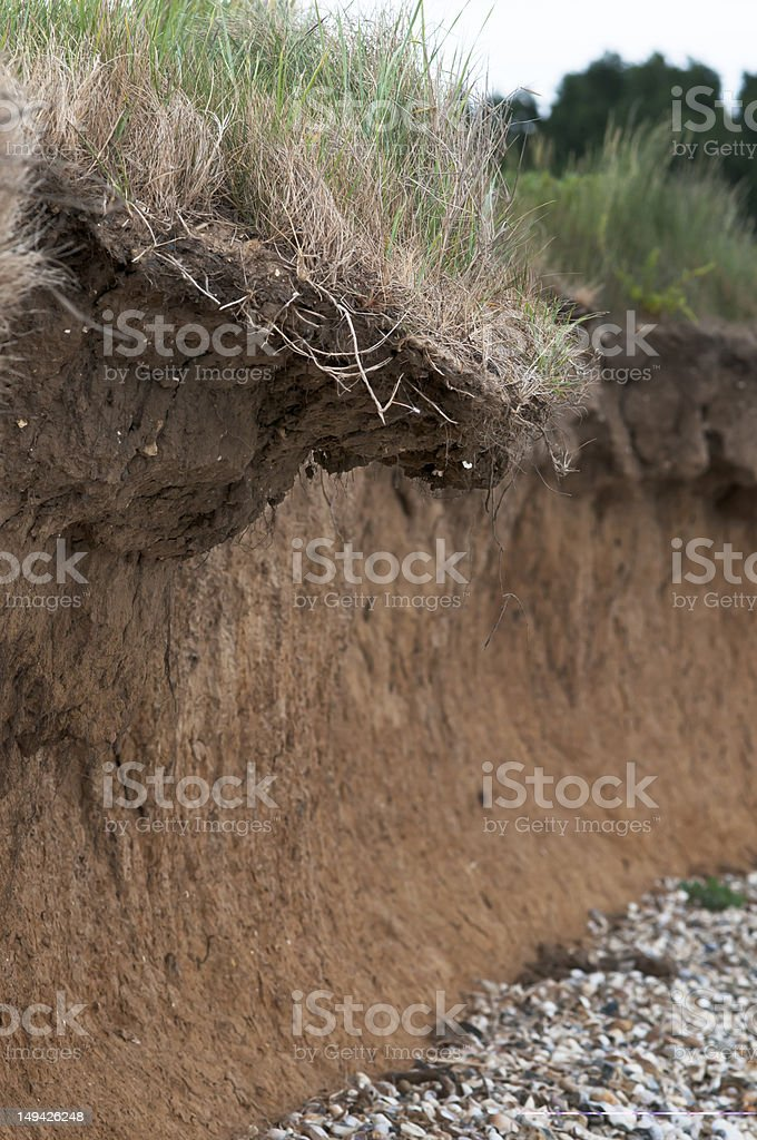 coastal erosion stock photo