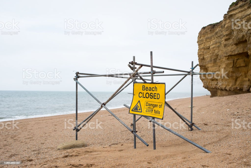 Coastal Erosion to Cliffs stock photo