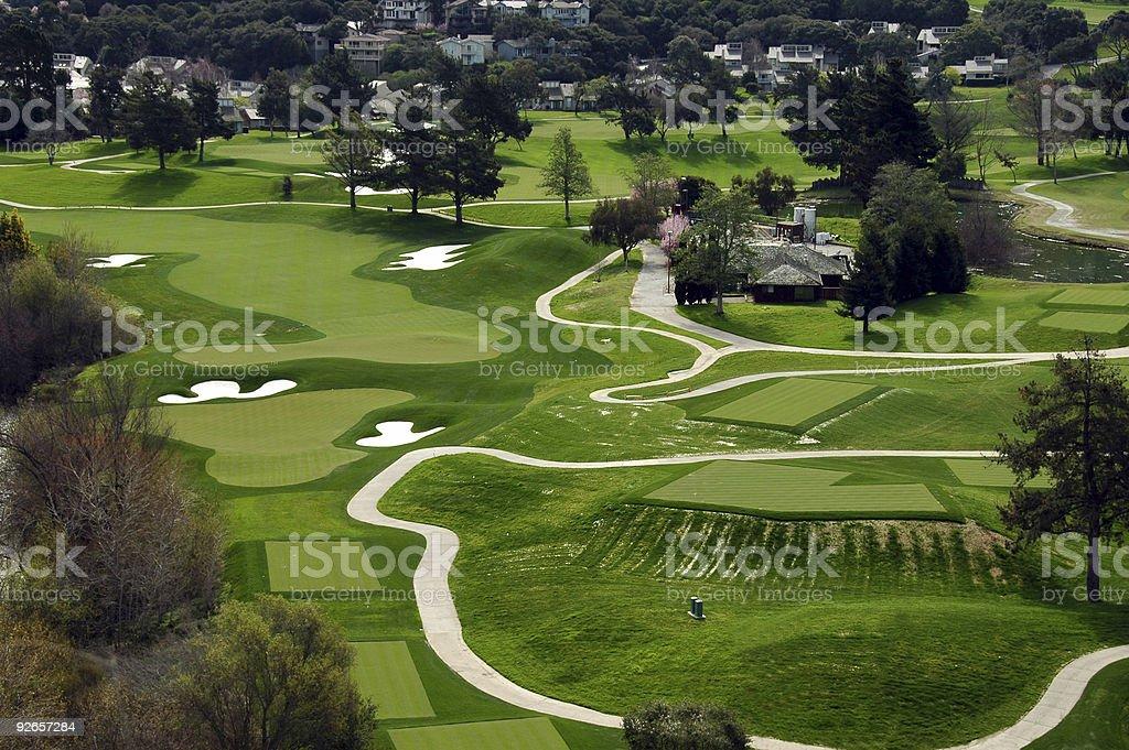 Coastal Golf Course royalty-free stock photo
