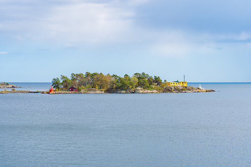 Coastal landscape from Karlshamn on the Swedish East Coast in early summer season.