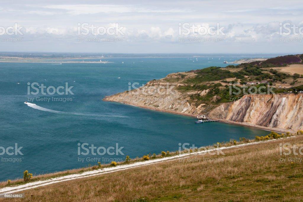 Coastal Landscape, Isle of Wight stock photo