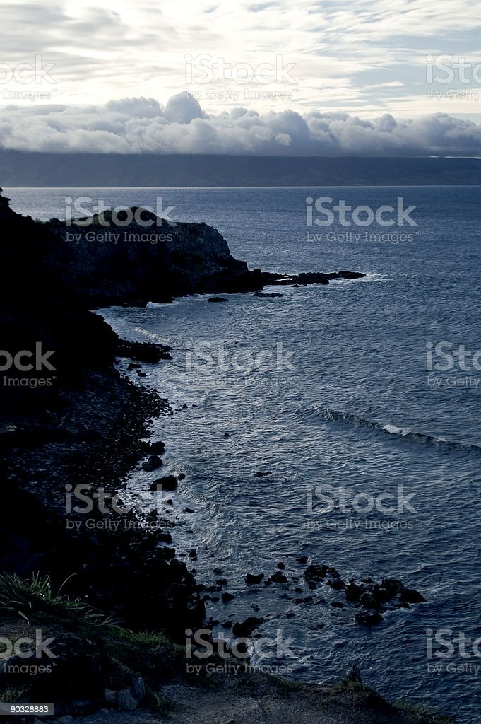 Coastal Line At Dusk stock photo