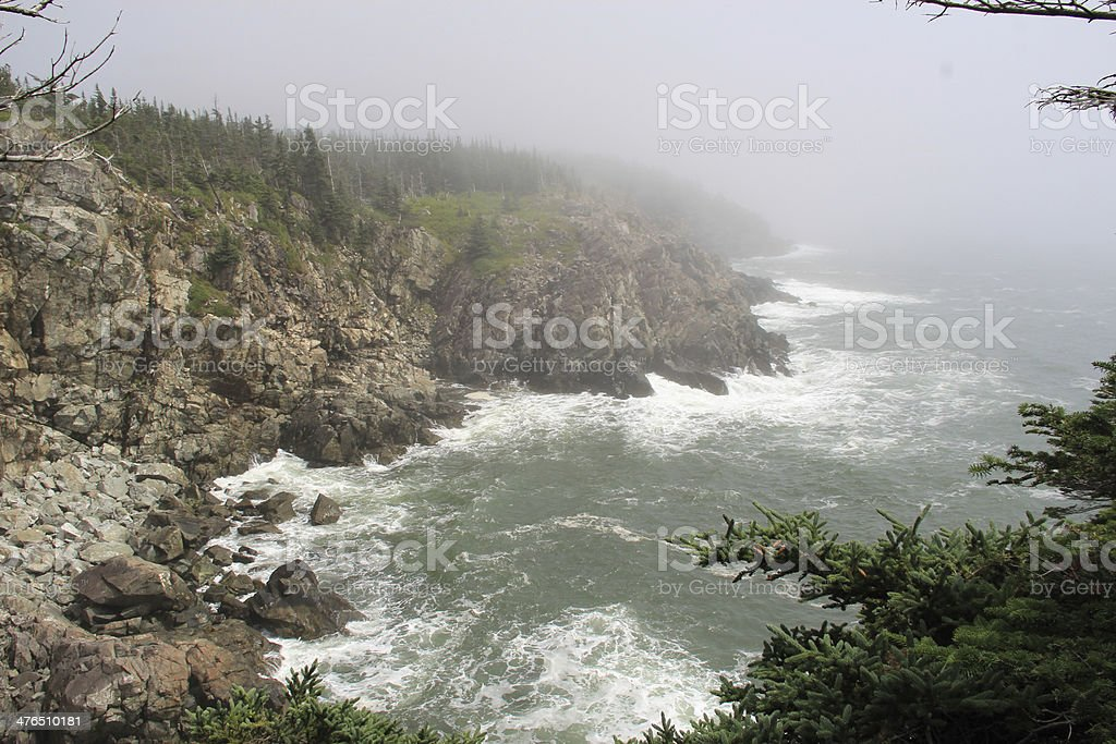 Coastal Maine stock photo