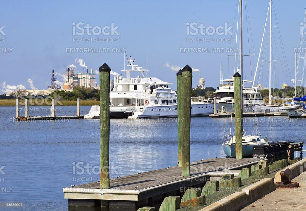 Coastal Marina stock photo