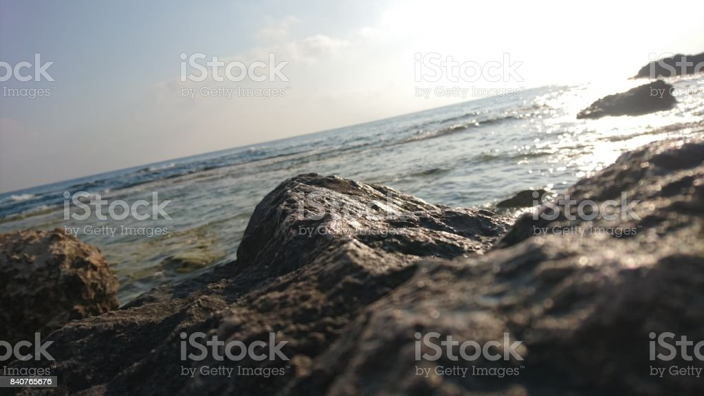 coastal meandering stock photo