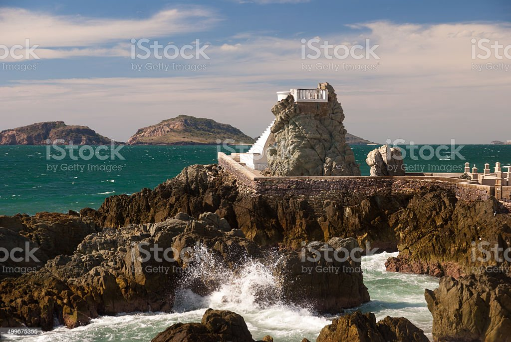 Coastal Overlook at Mazatlan Mexico stock photo