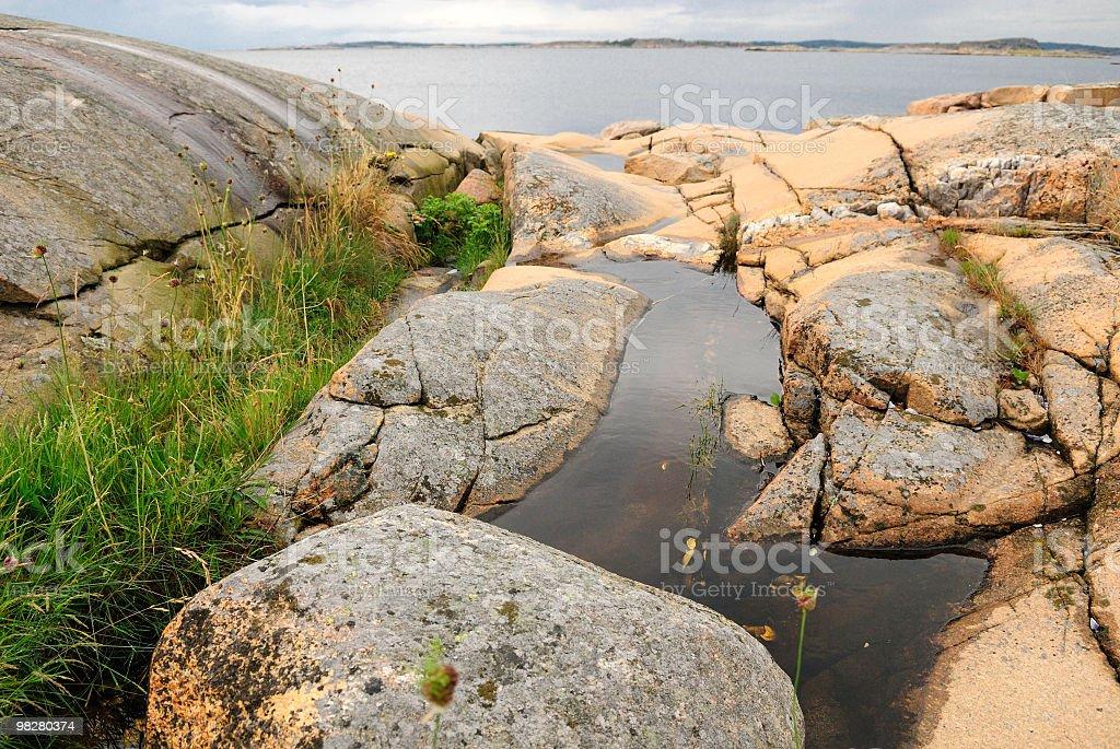 Coastal part of Sweden royalty-free stock photo