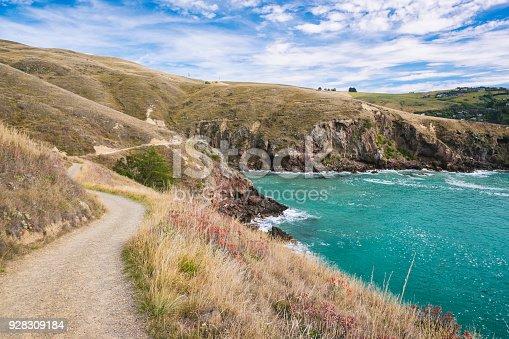 A coastal footpath in Canterbury, New Zealand