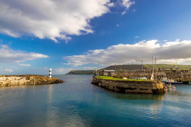 Coastal path of Northern Ireland stock photo