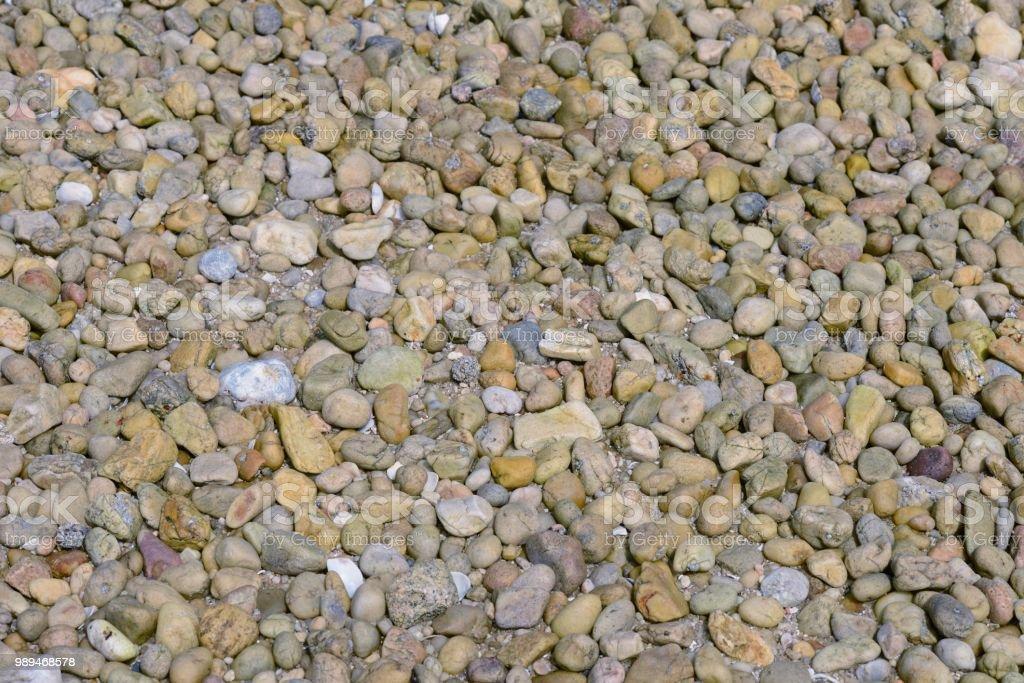image of coastal pebbles on the beach close up