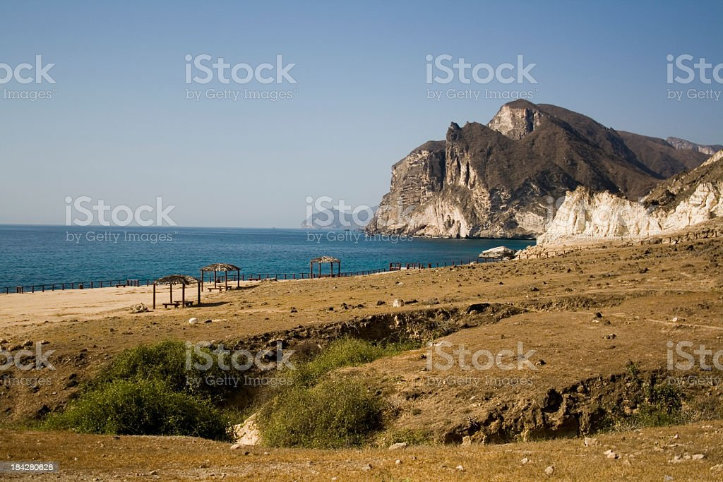 Coastal picture of Salalah, Oman - quiet and peaceful royalty-free stock photo