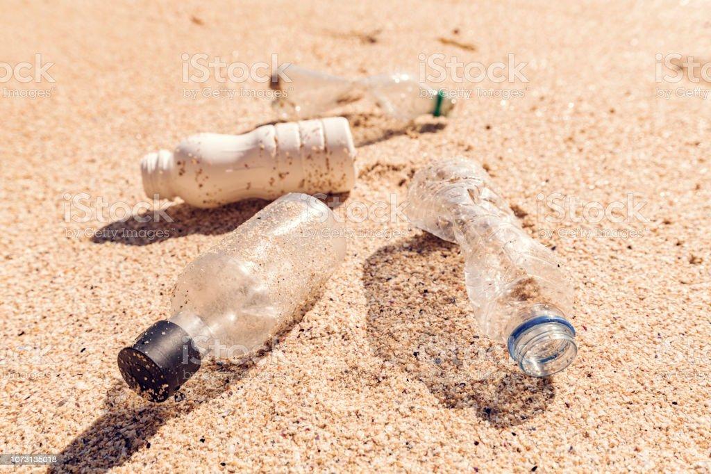 Coastal Plastic Pollution stock photo