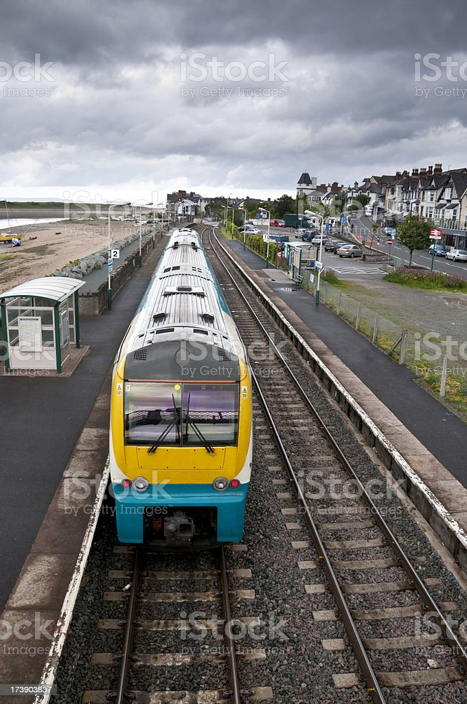 Coastal Railway Station stock photo