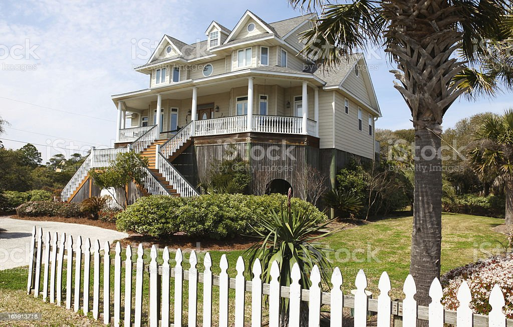 Coastal Residence Coastal residence - Folly Beach SC Architecture Stock Photo