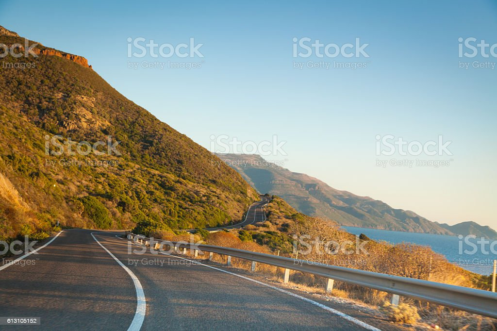 Coastal road from Alghero to Oristano, Sardinia stock photo