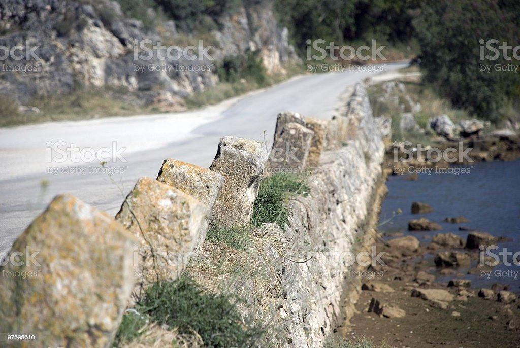 Coastal road royaltyfri bildbanksbilder