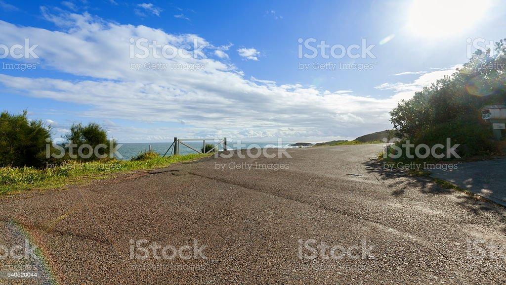 Coastal roads stock photo