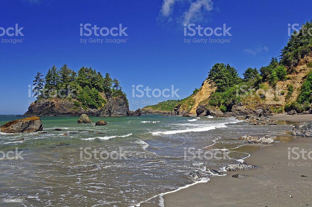 Coastal Rocks on a Sunny Day royalty-free stock photo