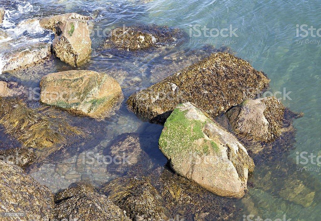 Coastal Rocks royalty-free stock photo