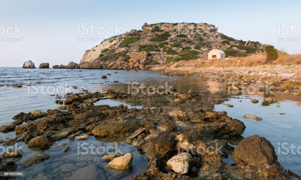 Coastal rocky area stock photo