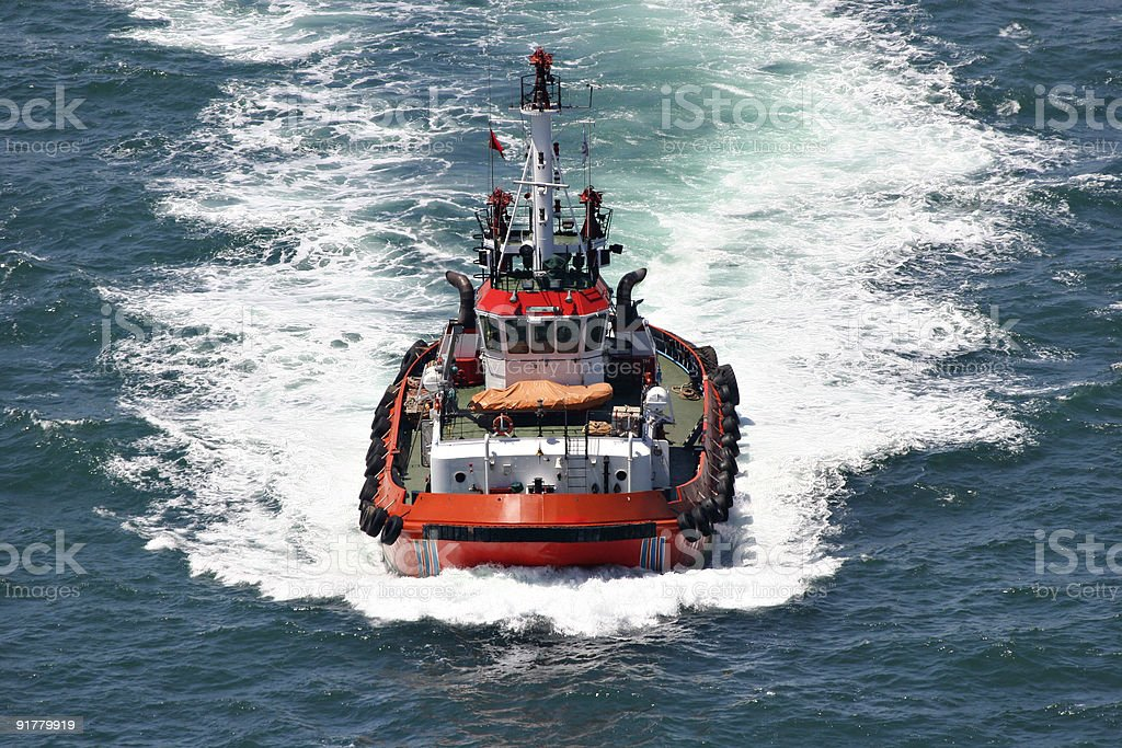 coastal safety, salvage and rescue boat royalty-free stock photo