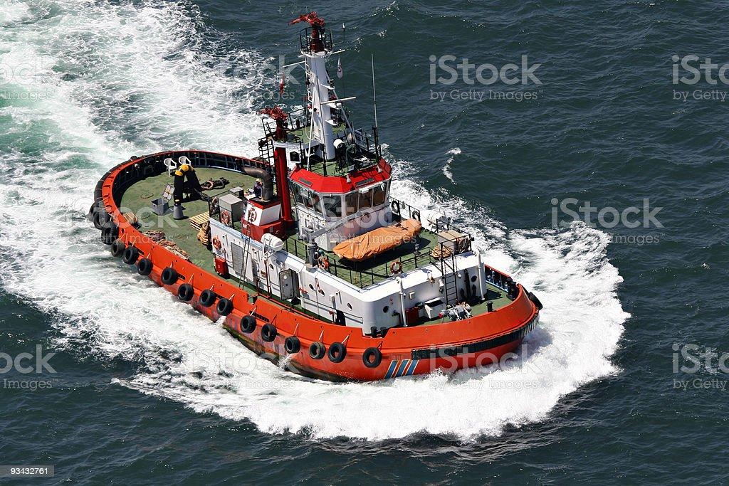 coastal Sicherheit, beziehen und Rettung Boot Lizenzfreies stock-foto