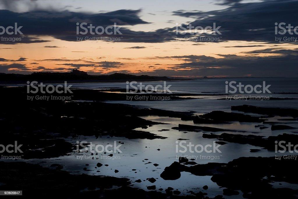 Coastal scene at dusk royalty-free stock photo