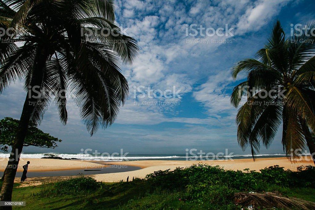 Coastal Scene from Liberia stock photo