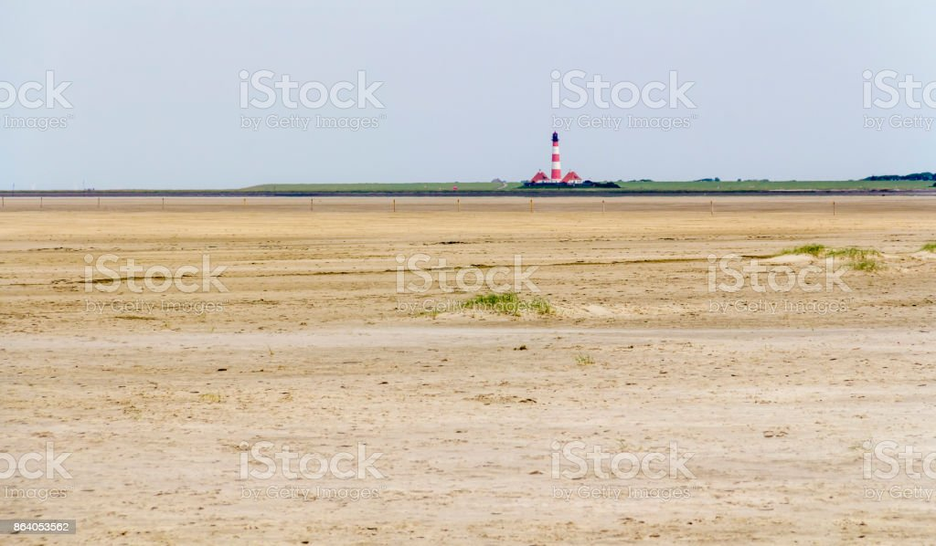 coastal scenery around Buesum stock photo