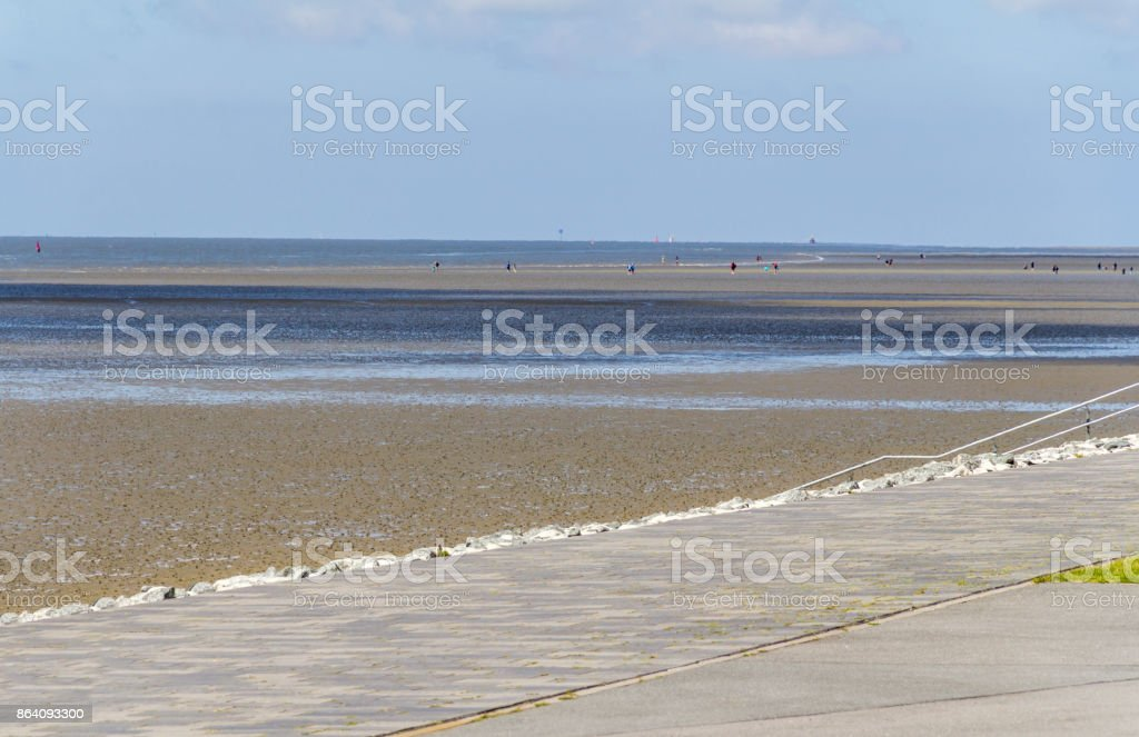 coastal scenery around Buesum royalty-free stock photo