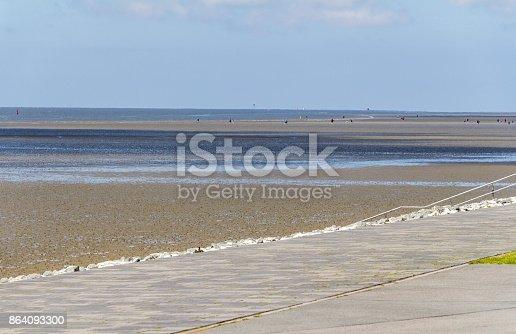 Coastal Scenery Around Buesum Stock Photo & More Pictures of Beach
