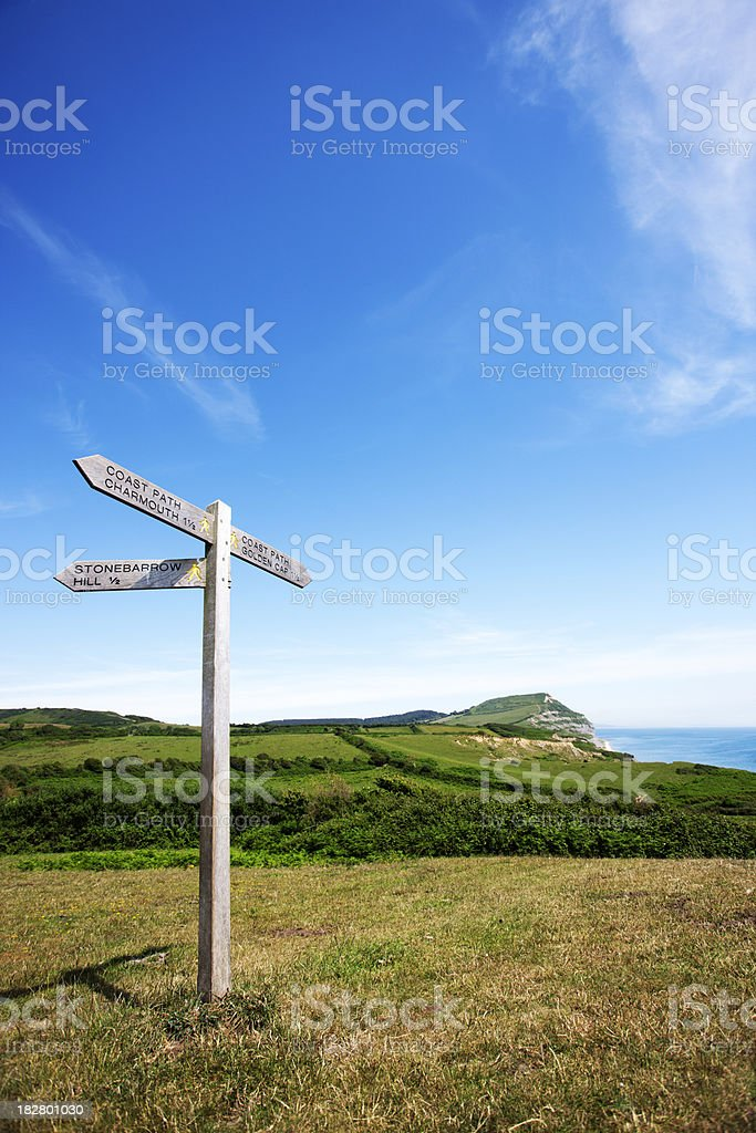Coastal signpost royalty-free stock photo