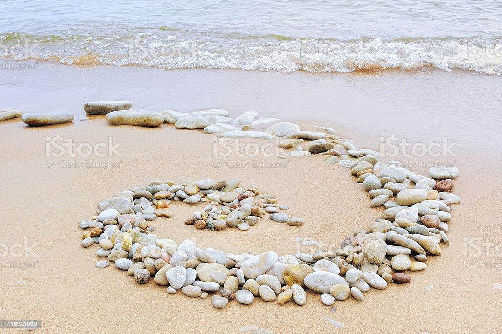 Coastal spiral royalty-free stock photo