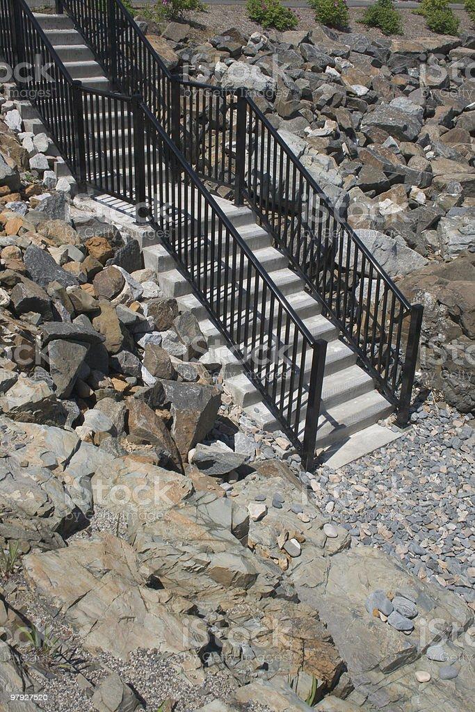 Coastal Steps royalty-free stock photo