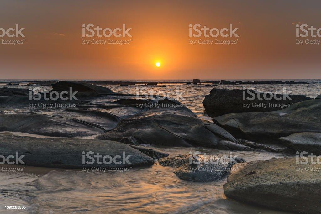 Coastal Sunrise stock photo