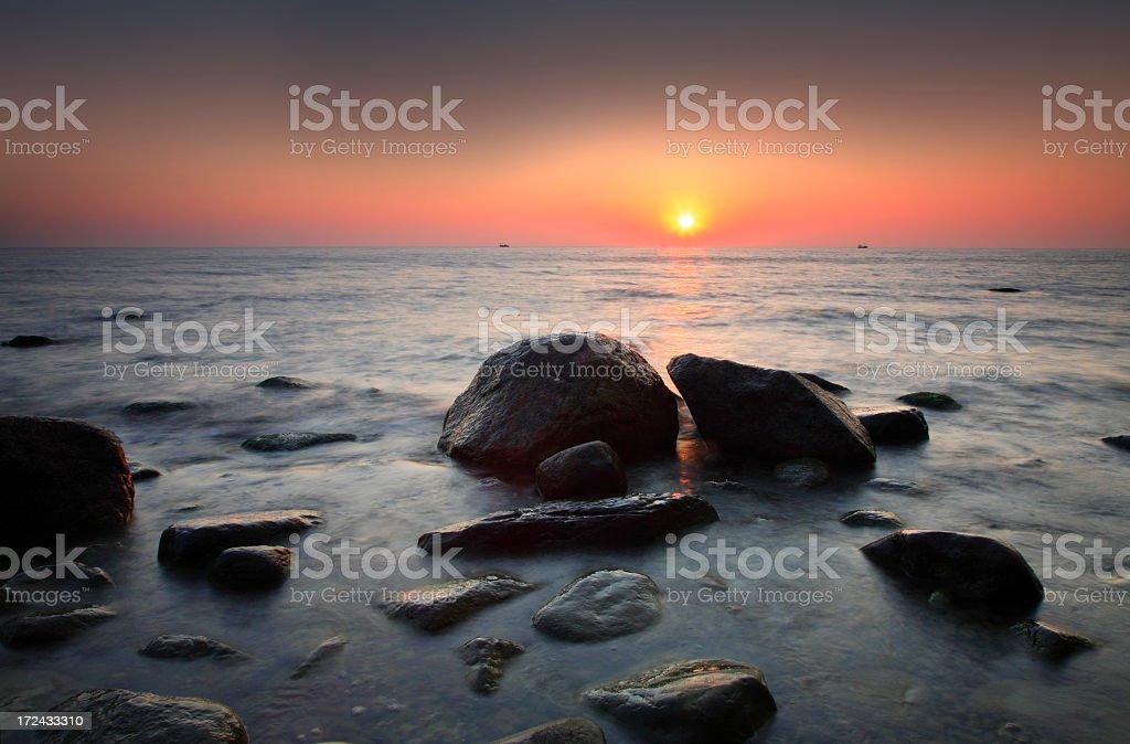 Coastal Sunrise royalty-free stock photo