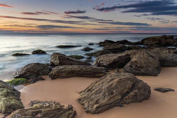 Coastal Sunrise Seascape stock photo