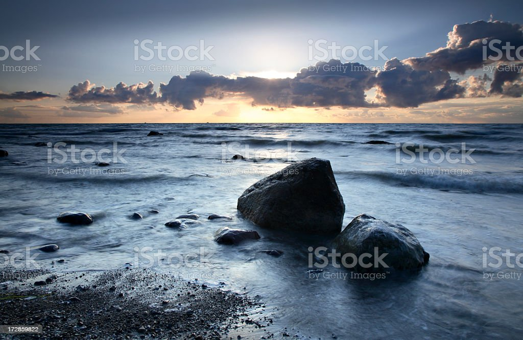 Coastal Sunset royalty-free stock photo