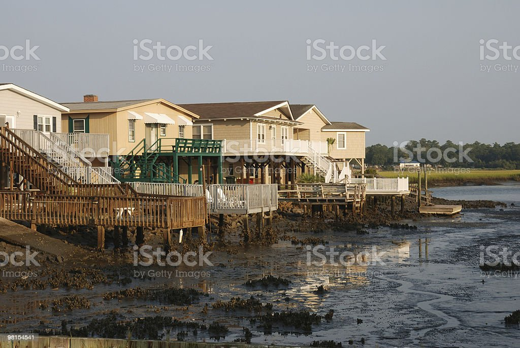 Coastal Town at Low Tide royalty-free stock photo