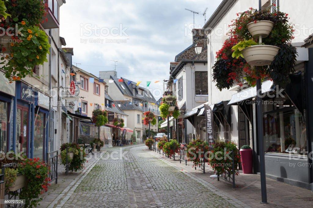 coastal town of Binic near St Brieuc Brittany France stock photo