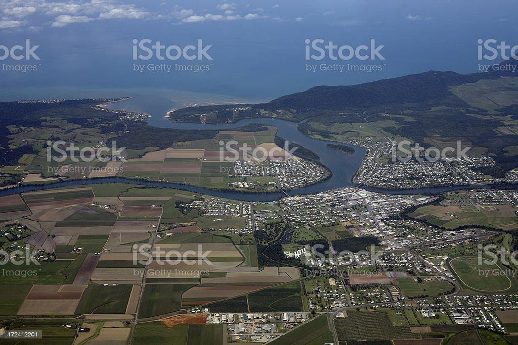 Coastal Town stock photo