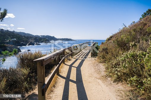Coastal trail in Point Lobos State Natural Reserve, Carmel-by-the-Sea, Monterey Peninsula, California