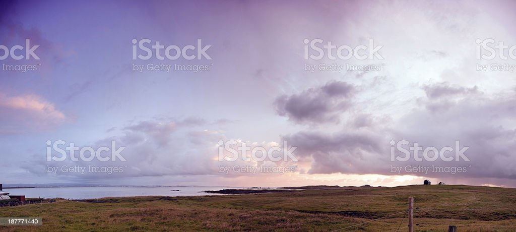 Coastal view at sunset just north of Reykjavik in Iceland royalty-free stock photo