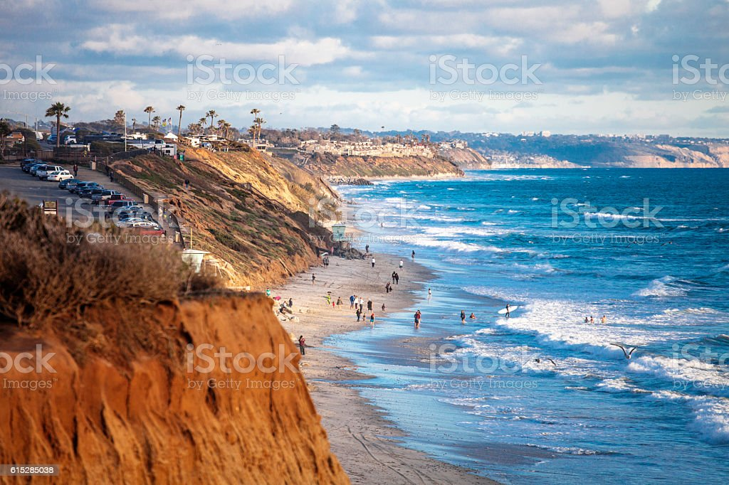 Coastal view. Encinitas, California. stock photo