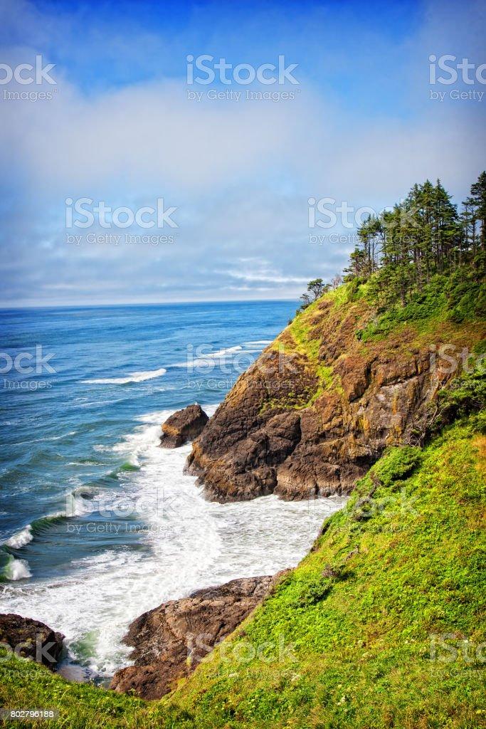 Coastal View from North Head stock photo