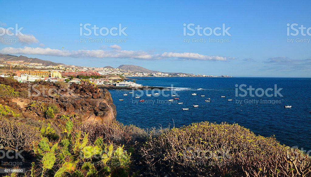 Coastal view near La Caleta village,Tenerife. photo libre de droits