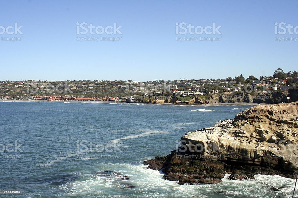 Vista sulla costa foto stock royalty-free