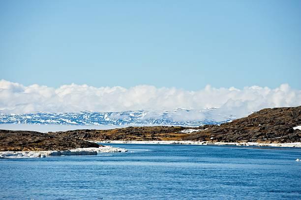 Coastal views, Frobisher Bay, Nunavut Territory, Baffin Island, Canada stock photo
