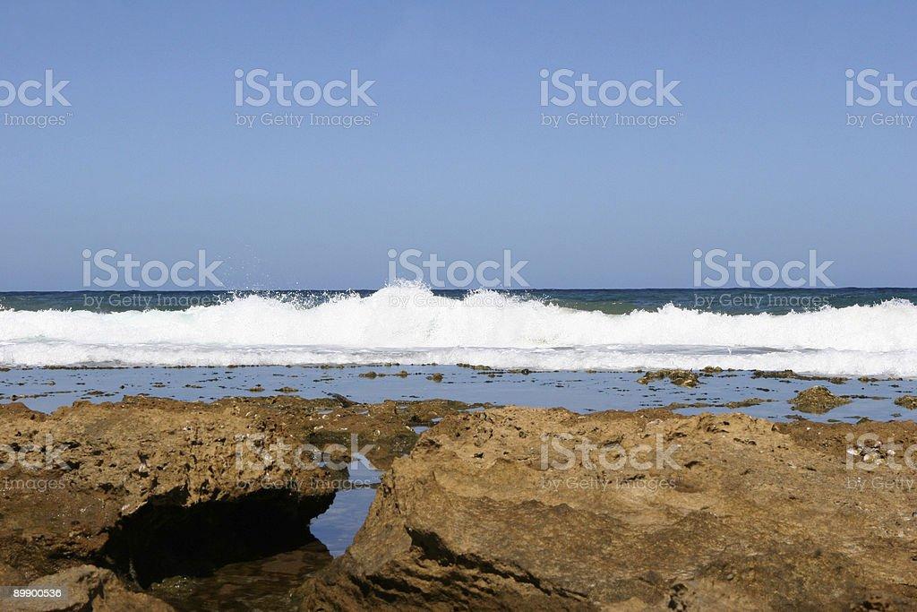 Vue sur la côte photo libre de droits