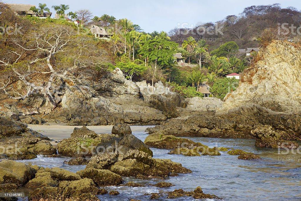 Coastal Village Above the Sea royalty-free stock photo